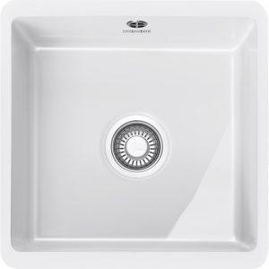 Franke KBK110 40 WH Kubus Single Bowl Ceramic Undermount Sink – WHITE