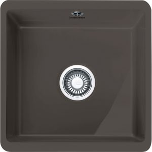 Franke KBK110 40 GR Kubus Ceramic Single Bowl Undermount Sink – GRAPHITE