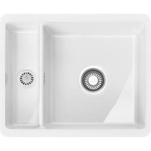 Franke KBK160 WH Kubus 1.5 Bowl Ceramic Undermount Sink – WHITE