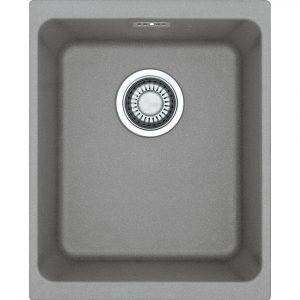 Franke KUBUS KBG110 34 SG Kubus Single Bowl Fragranite Undermount Sink – STONE GREY