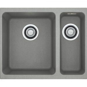 Franke KUBUS KBG160 SG Kubus 1.5 Bowl Fragranite Undermount Sink – STONE GREY