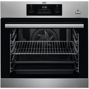 AEG BES351210M Built In SteamBake Single Multifunction Oven – STAINLESS STEEL