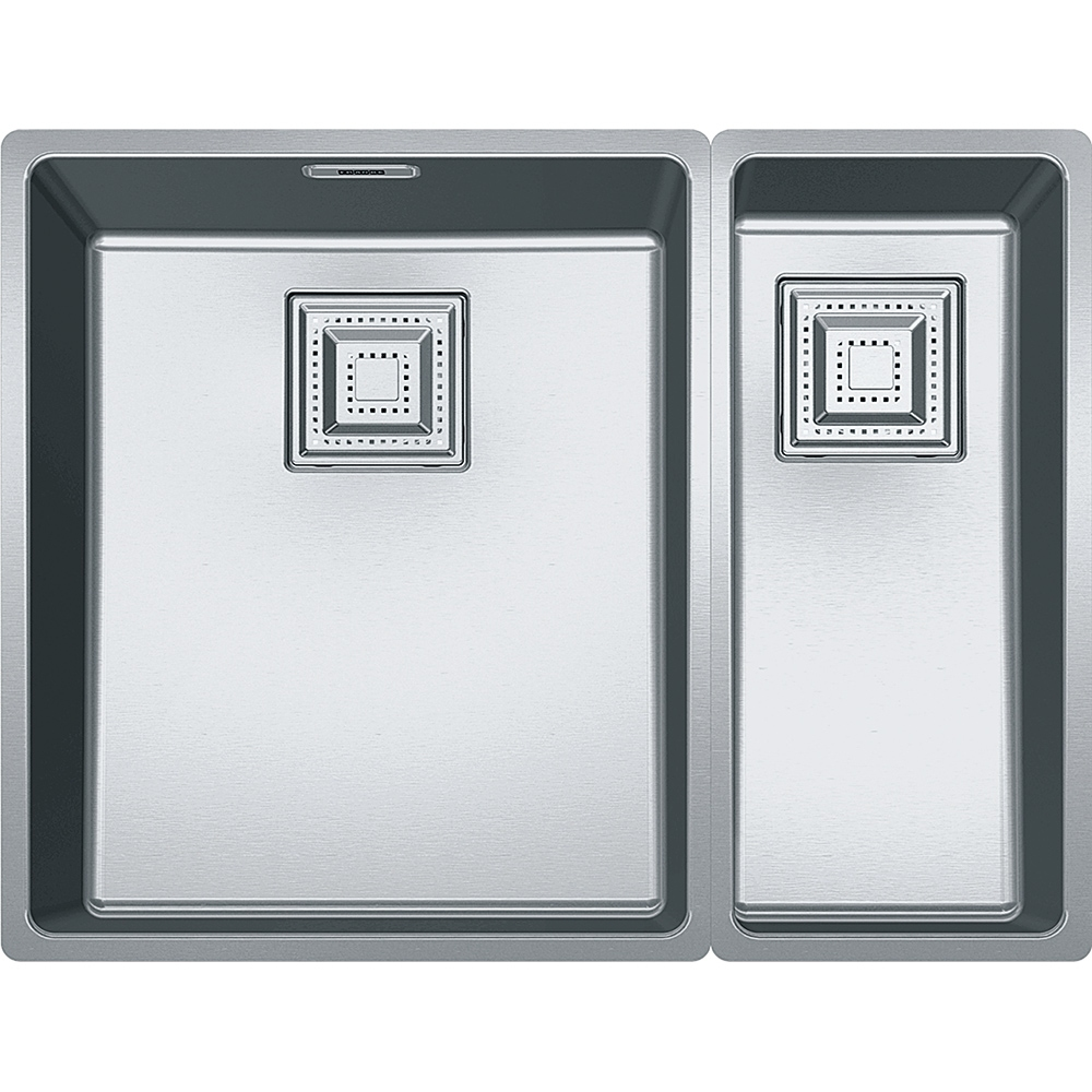 Image of Franke CMX160 34-17 Centinox 1.5 Bowl Undermount Sink Right Hand Small Bowl - STAINLESS STEEL