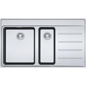Franke FSX251 TPL SS RHD Frames By Franke 1.5 Bowl Sink Right Hand Drainer – STAINLESS STEEL