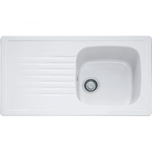 Franke ELK611 Elba Single Bowl Ceramic Sink – WHITE