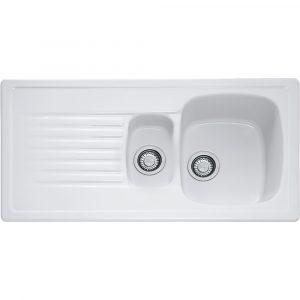 Franke ELK651 Elba 1.5 Bowl Ceramic Sink – WHITE