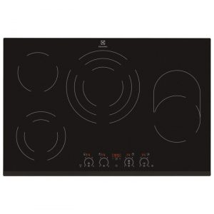 Electrolux EHF8748FOK 78cm Wide 4 Zone Ceramic Hob – BLACK