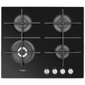 Whirlpool GOW6423NB 59cm Gas On Glass Hob – BLACK