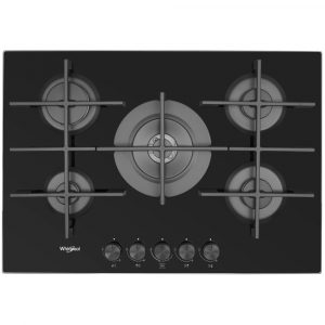 Whirlpool GOW7553NB 73cm Gas On Glass Hob – BLACK