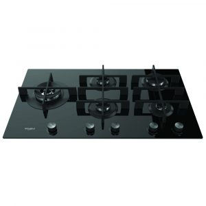 Whirlpool GOW9553NB 86cm Gas On Glass Hob – BLACK