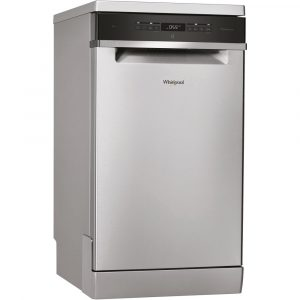 Whirlpool WSFO3T223PCXUK 45cm Freestanding Dishwasher – STAINLESS STEEL