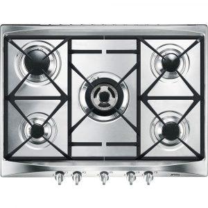 Smeg SR275XGH2 70cm Cucina 5 Burner Gas Hob – STAINLESS STEEL