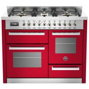 Bertazzoni PRO110-6-MFE-T-ROT 110cm Professional XG Dual Fuel Range Cooker – RED