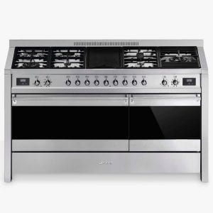 Smeg A5-81 150cm 'Opera' Dual Fuel Range Cooker – STAINLESS STEEL