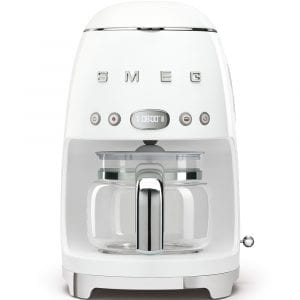 Smeg DCF01WHUK Freestanding Retro Drip Coffee Machine – WHITE