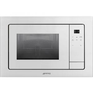 Smeg FMI120B1 Linea Built In Microwave & Grill For Wall Unit – WHITE