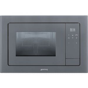 Smeg FMI120S1 Linea Built In Microwave & Grill For Wall Unit – SILVER