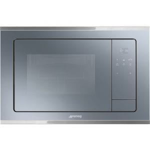 Smeg FMI420S Cucina Built In Microwave & Grill For Wall Unit – SILVER