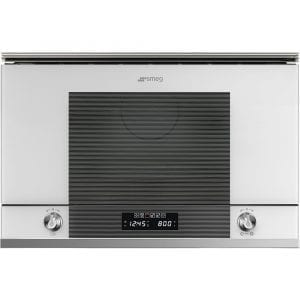 Smeg MP122B1 Linea Built In Microwave & Grill For Wall Unit – WHITE