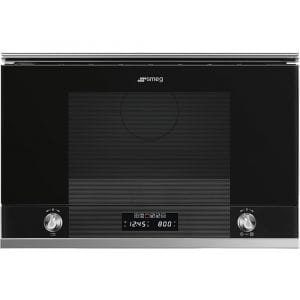 Smeg MP122N1 Linea Built In Microwave & Grill For Wall Unit – WHITE