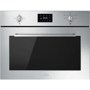Smeg SF4400MX Cucina Built In Microwave & Grill For Tall Housing – STAINLESS STEEL
