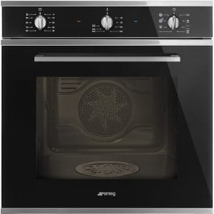 Smeg SF64M3DN Cucina Direct Steam Multifunction Single Oven – BLACK