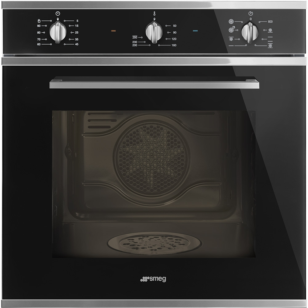 Smeg SF64M3DN Cucina Direct Steam Multifunction Single Oven - BLACK ...