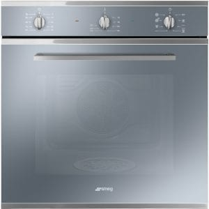Smeg SF64M3DS Cucina Direct Steam Multifunction Single Oven – SILVER