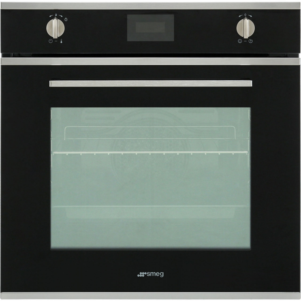 Smeg SFP6401TVN Cucina Pyrolytic Multifunction Single Oven - BLACK ...