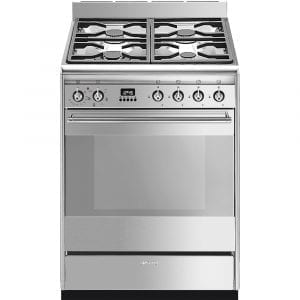 Smeg SUK61MX9 60cm Freestanding Dual Fuel Cooker – STAINLESS STEEL