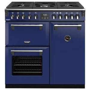 Stoves RICHMOND DX S900DFCBMGA Richmond 900mm Dual Fuel Cooker – BLUE