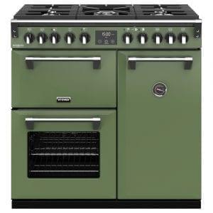Stoves RICHMOND DX S900DFCBSGR Richmond 900mm Dual Fuel Cooker – GREEN