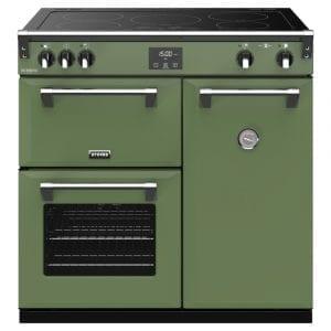 Stoves RICHMOND DX S900EICBSGR Richmond 900mm Induction Range Cooker – GREEN