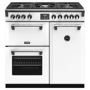 Stoves RICHMOND DX S900GCBIBR Richmond 900mm Gas Range Cooker – WHITE