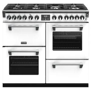 Stoves RICHMOND DX S1000DFCBIBR Richmond 1000mm Dual Fuel Cooker – WHITE