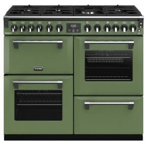 Stoves RICHMOND DX S1000DFCBSGR Richmond 1000mm Dual Fuel Cooker – GREEN