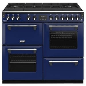 Stoves RICHMOND DX S1000DFGTGCBMGA Richmond 1000mm Gas On Glass Dual Fuel Cooker – BLUE