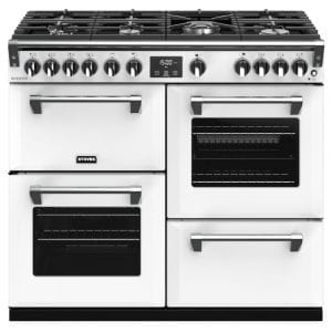 Stoves RICHMOND DX S1000GCBIBR Stoves Richmond 1000mm Gas Range – WHITE
