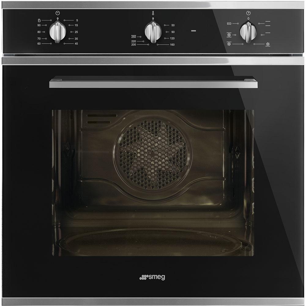Smeg SF64M3VN Cucina Multifunction Single Oven - BLACK - Appliance City