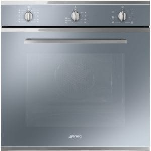Smeg SF64M3VS Cucina Multifunction Single Oven – SILVER