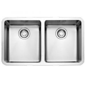 Franke KUBUS KBX120 34-34 Kubus Double Bowl Sink – STAINLESS STEEL