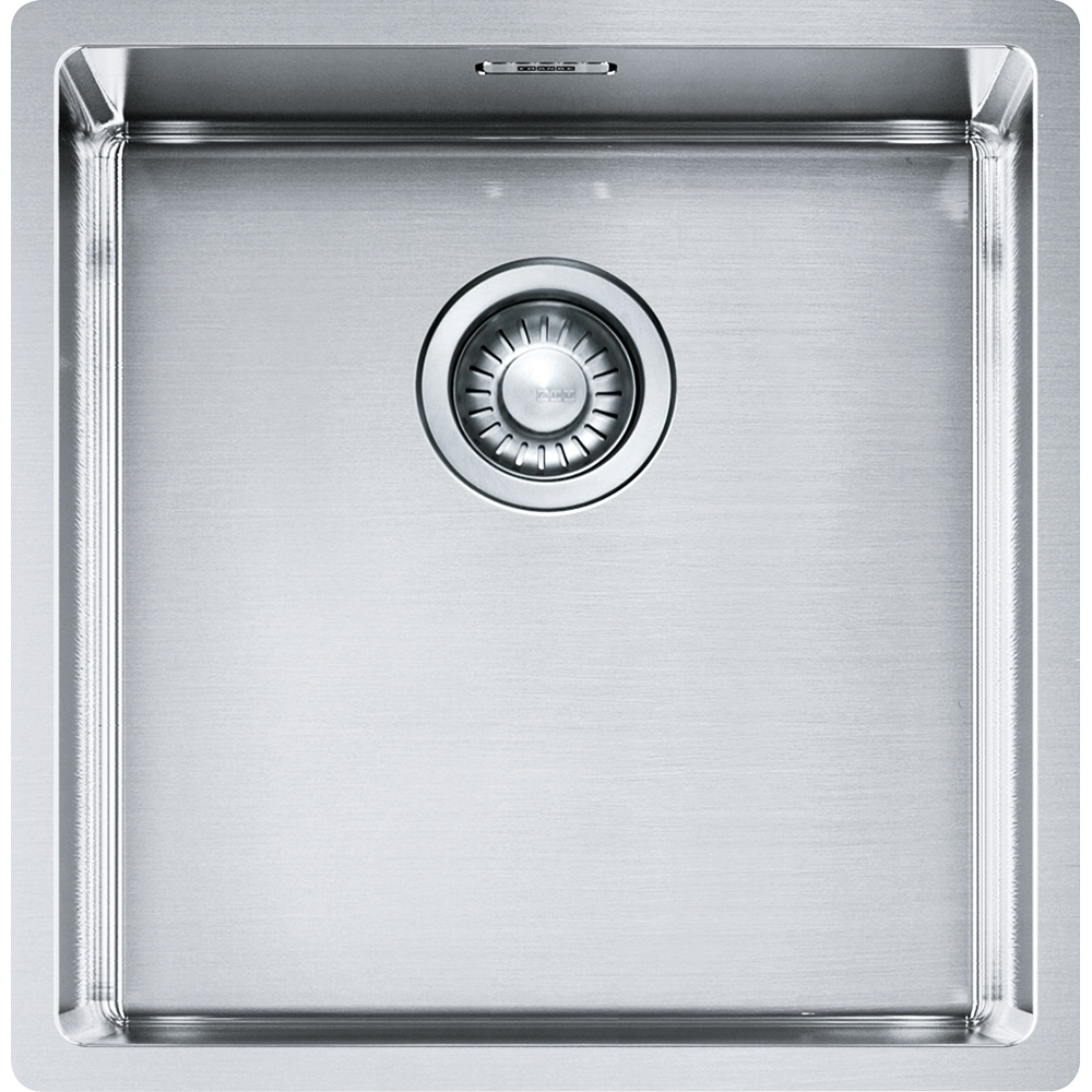 Image of Franke BXX110-40 Box Single Bowl Undermount Sink - STAINLESS STEEL