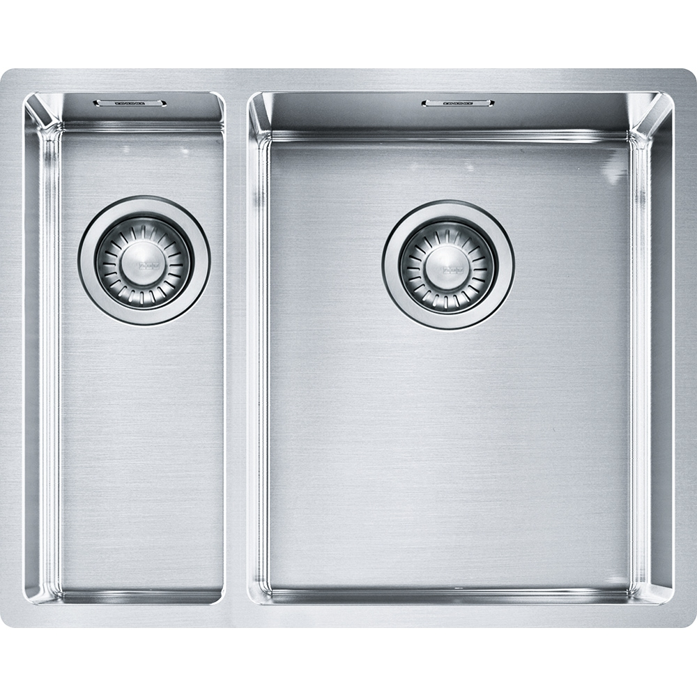 Image of Franke BXX160 34-16 Box 1.5 Bowl Undermount Sink Left Hand Small Bowl - STAINLESS STEEL
