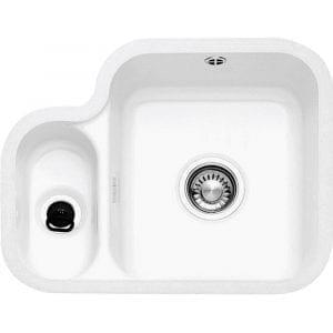 Franke VBK160 V&B 1.5 Bowl Ceramic Undermount Sink Left Hand Small Bowl – WHITE