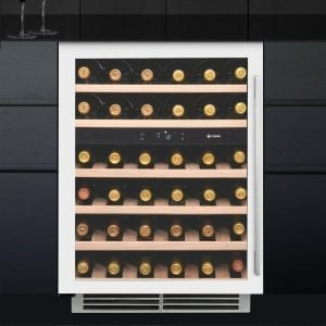 Caple WI6134WH 60cm Undercounter Dual Zone Wine Cooler – WHITE
