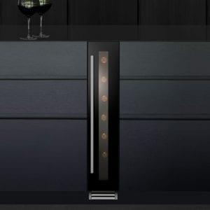 Caple WI156 15cm Freestanding Undercounter Wine Cooler – BLACK