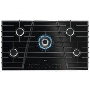 AEG HVB95450IB 90cm 5 Burner Gas On Glass Hob – BLACK