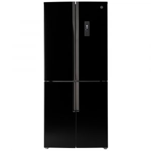 Hoover HFDN180BK French Style Fridge Freezer Non Ice & Water – BLACK