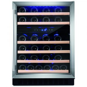 Amica AWC600SS 60cm Freestanding Under Counter Wine Cooler – STAINLESS STEEL