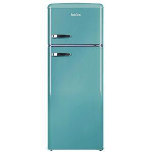 Amica FDR2213DB 55cm Retro Fridge Freezer – BLUE